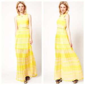French Connection London Rock Striped Maxi Dress